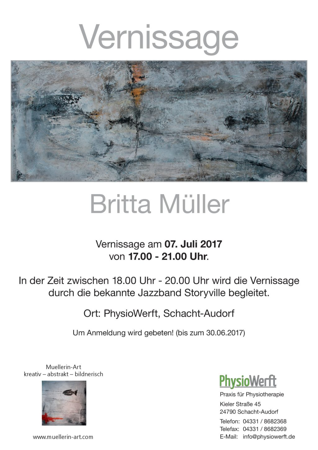 Vernissage in der PhysioWerft am 07.07.